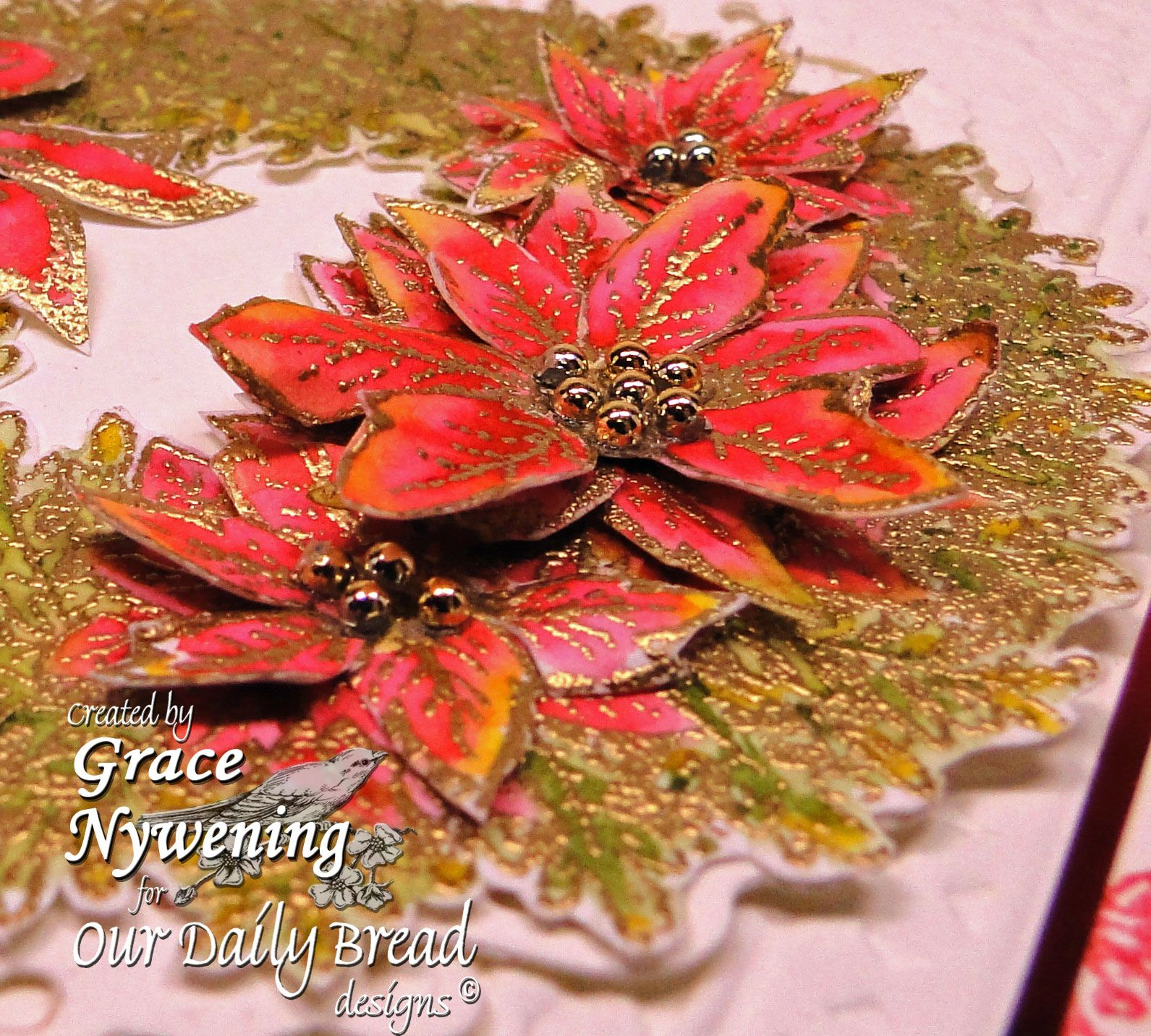 Th-INK-ing of You: Poinsettia Wreath for Christmas!