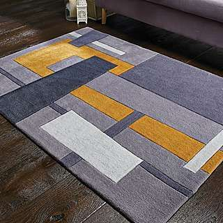Elements Farg Abstract Ochre Rug With