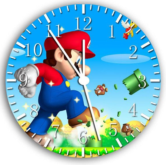 New Super Mario Bros Wall Clock 10 Will Be Nice By