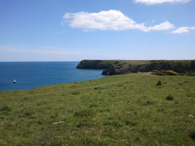 Pembrokeshire coastal path. Join us on our Wonderful wales trip to see more wonders in Wales