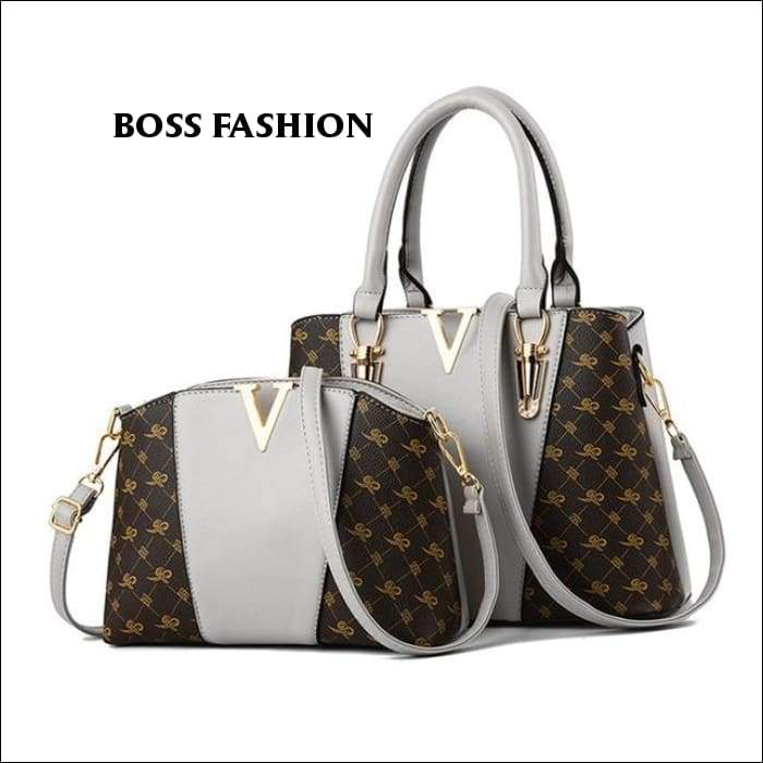 1ea5f708c 2 PCS Women Bag Set Leather Tote Bag Louis Vuitton Handbags, Louis Vuitton  Speedy Bag