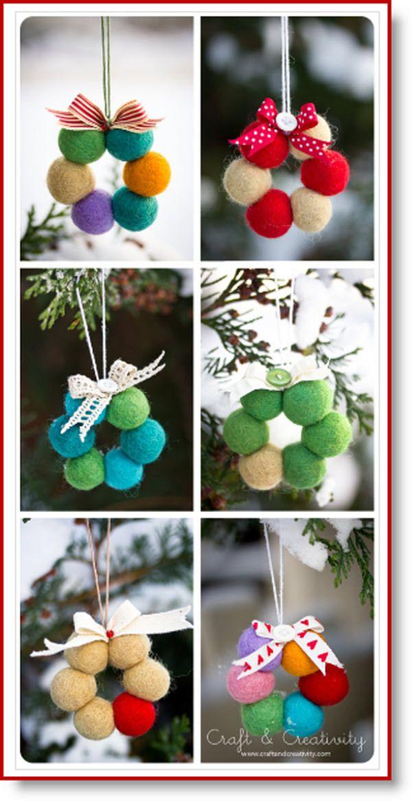 Photo of Tiny wool bead wreath tutorial