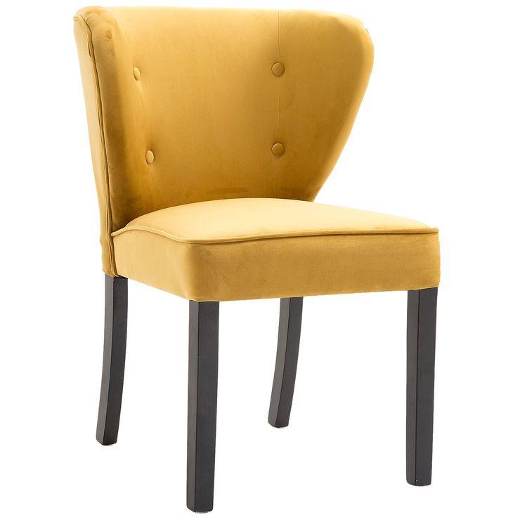 Yellow Tufted Velvet Chair Velvet tufted chair