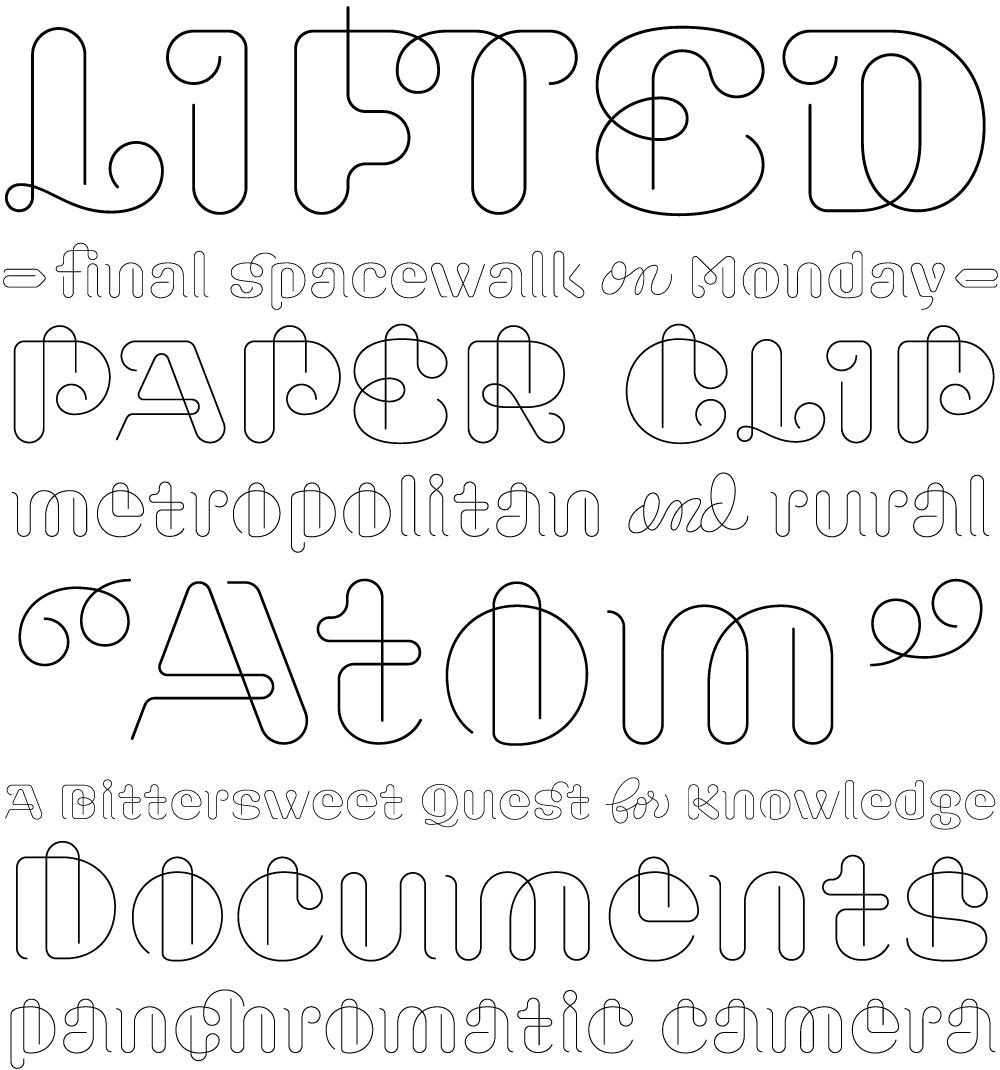 Clip typeface