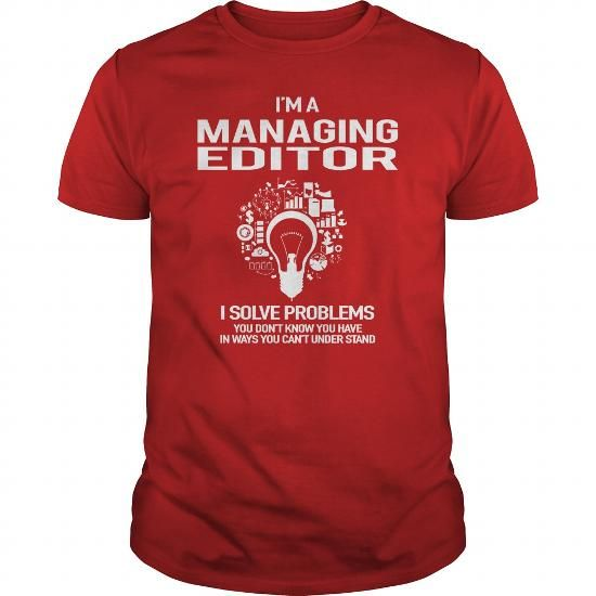 Awesome Tee For Managing Editor  Job Shirts    Editor