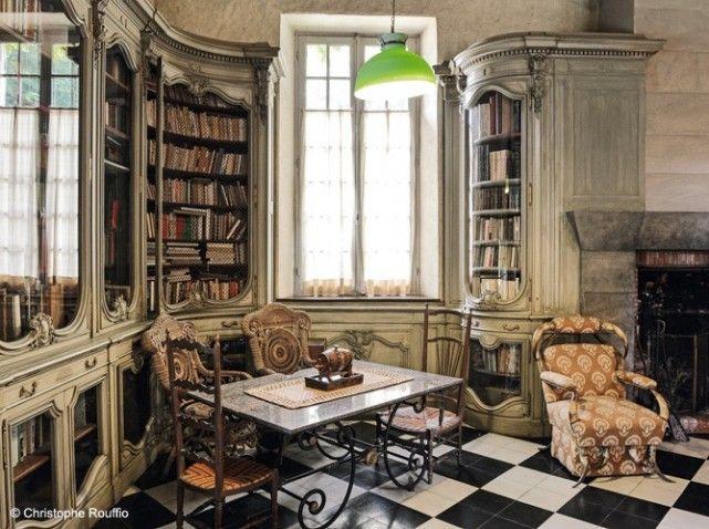 Bibliothèque de la Maison Elsa Triolet BIBLIOTHÈQUES Pinterest - Meuble Bibliotheque Maison Du Monde