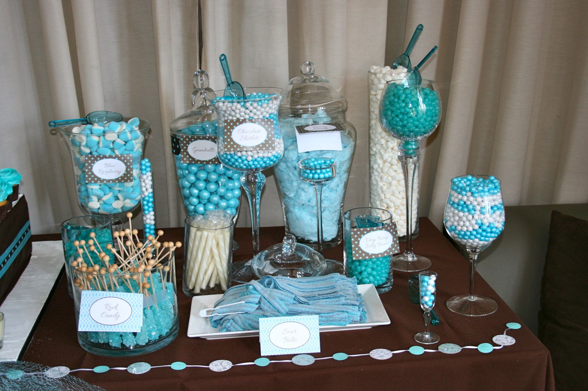 Candy Station for a baby boy baby shower | MY EVENTS and ...