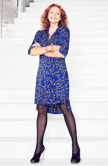 80e4bc6a52 Diane von Furstenberg  Prita  Print Silk Shirtdress Shirtdress