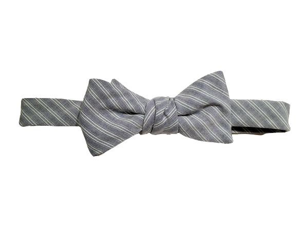 Navy and Green Stripe Oxford Bow $55