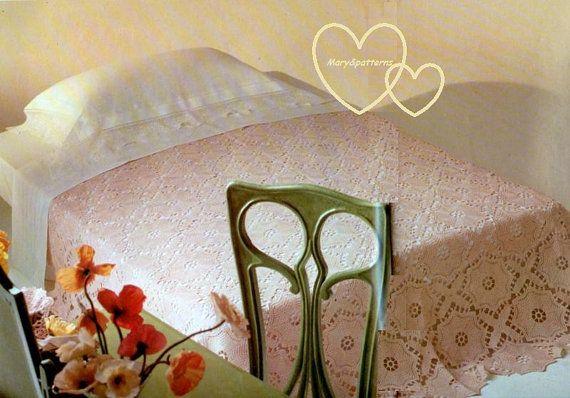 Schema PDF  Copriletto  a uncinetto  decorazioni  di Marypatterns