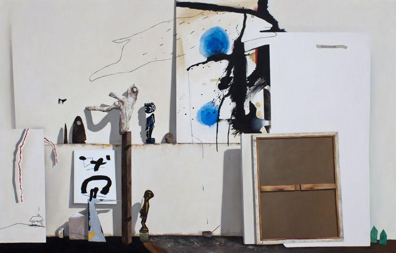 "Fiona Ackerman. HETEROTOPIA: Invasion, 2011 (from Gregor Hiltner Studio Visit) 2011, oil on canvas, 65"" x 102"""