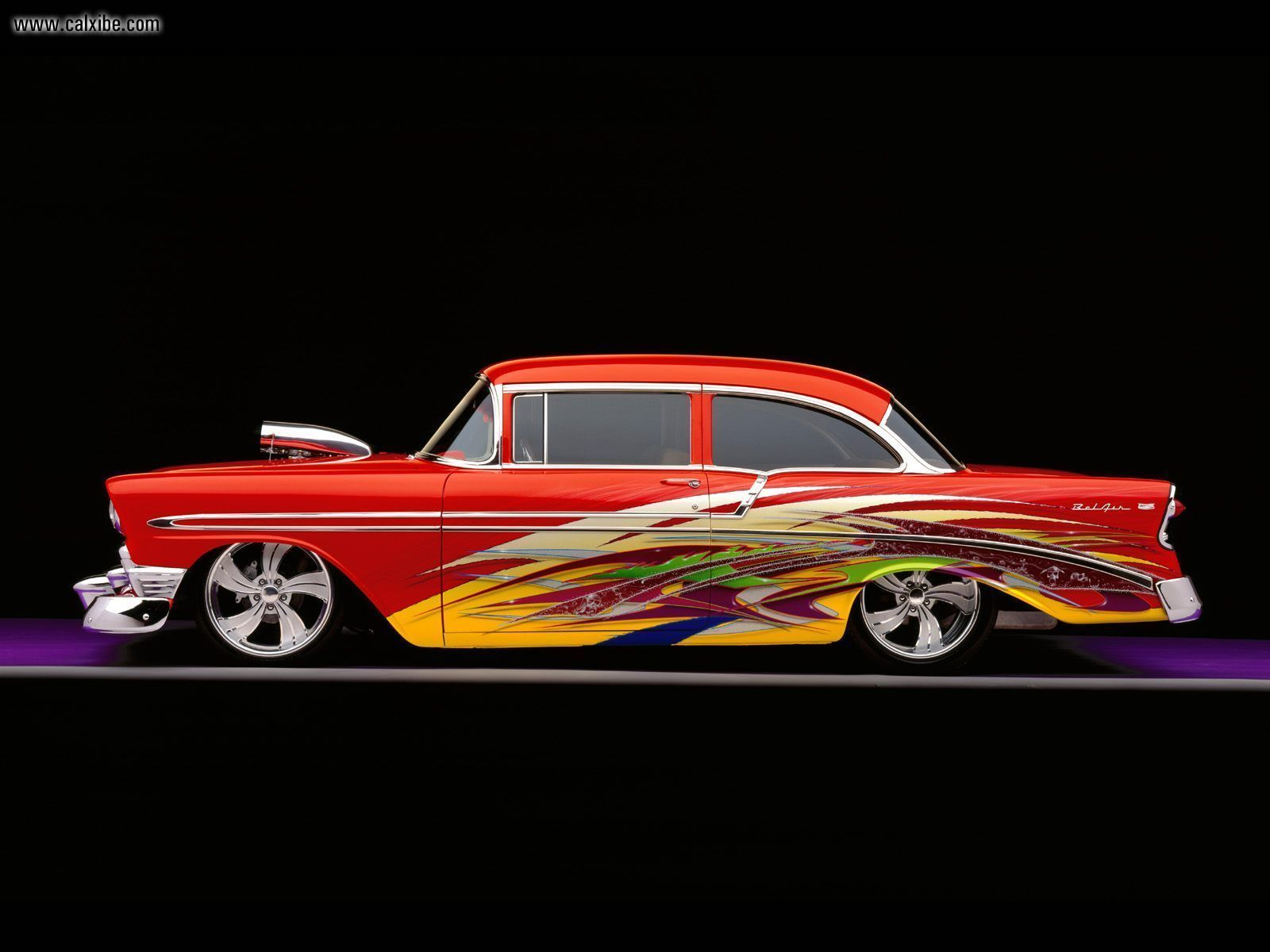 57 Chevy Bel Air Custom Totally Diggin The Paint Job 1966 Chevrolet Rear View