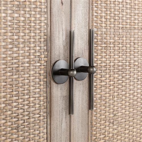 Lydia French Country Rattan Distressed Wood Cabinet Wood Doors Interior Wood Door Frame Interior Barn Doors