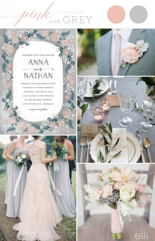 Wedding Themes 12 Color Schemes - 2017 summer wedding color trends wedding inspiration 2…