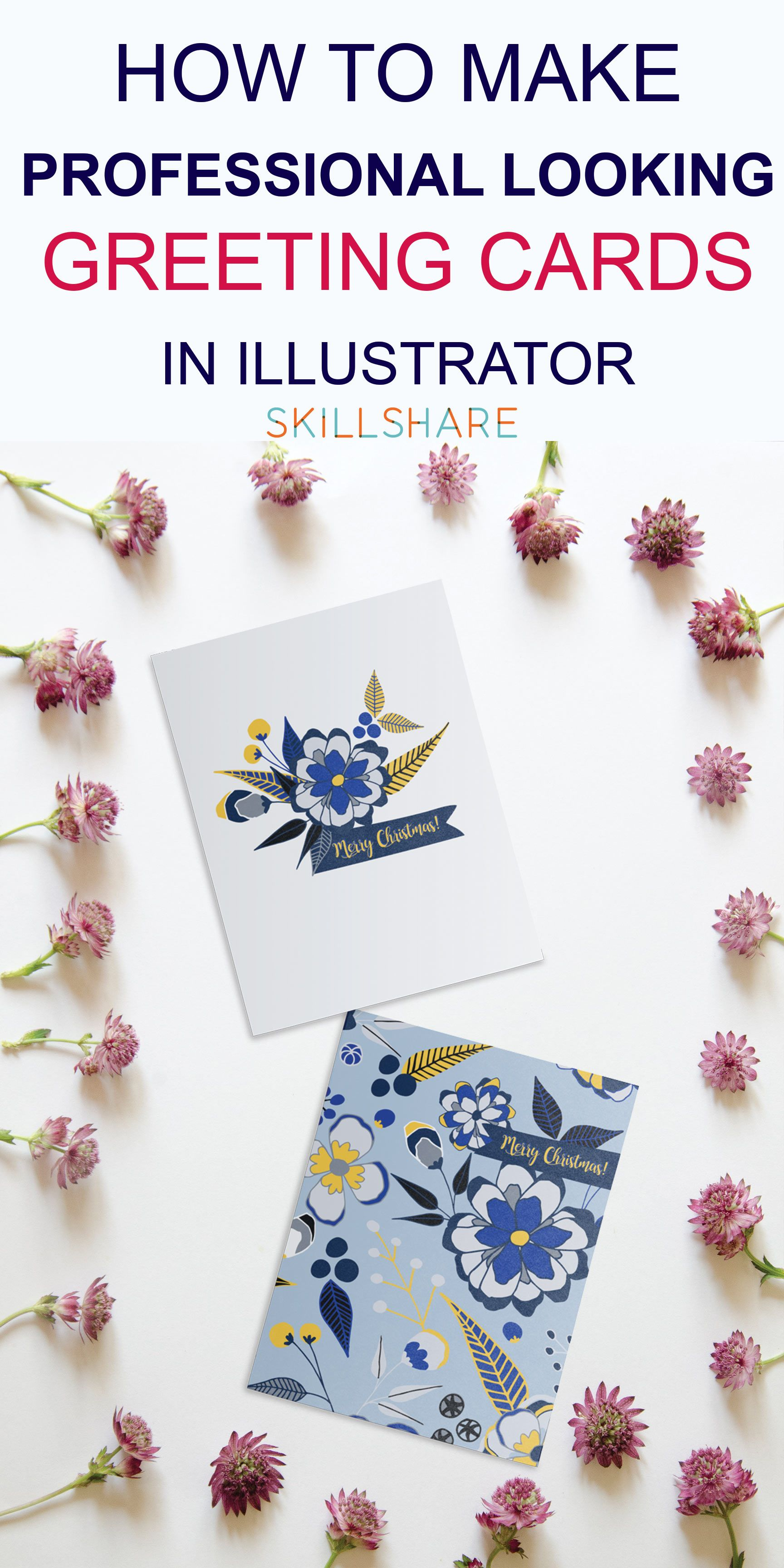 SKILLSHARE class Turn your sketches into festive