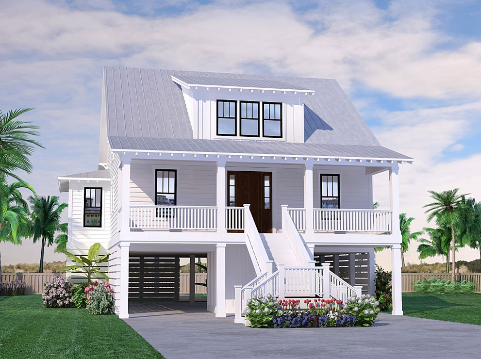 Seabright Cottage Coastal Home Plans In 2020 Beach House Floor Plans Beach Cottage House Plans Stilt House Plans