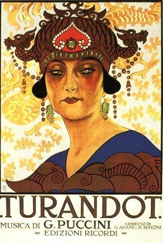 Poster del estreno de Turandot (PD)