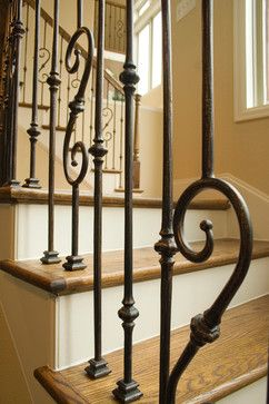 Staircase Wrought Iron Balusters Design Ideas, Pictures, Remodel And Decor