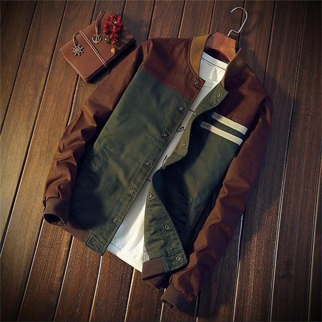 Men's Jackets Military Fashion Slim Casual – Green / XXL