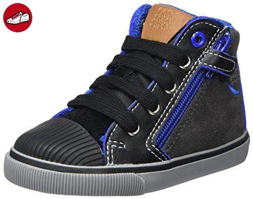 Geox Jungen J Kilwi Boy E Sneaker, Grau (Grey/Royal), 34 EU