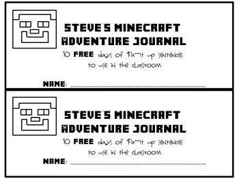 10 free fix-it up Minecraft sentences | Tutoring | Verb tenses