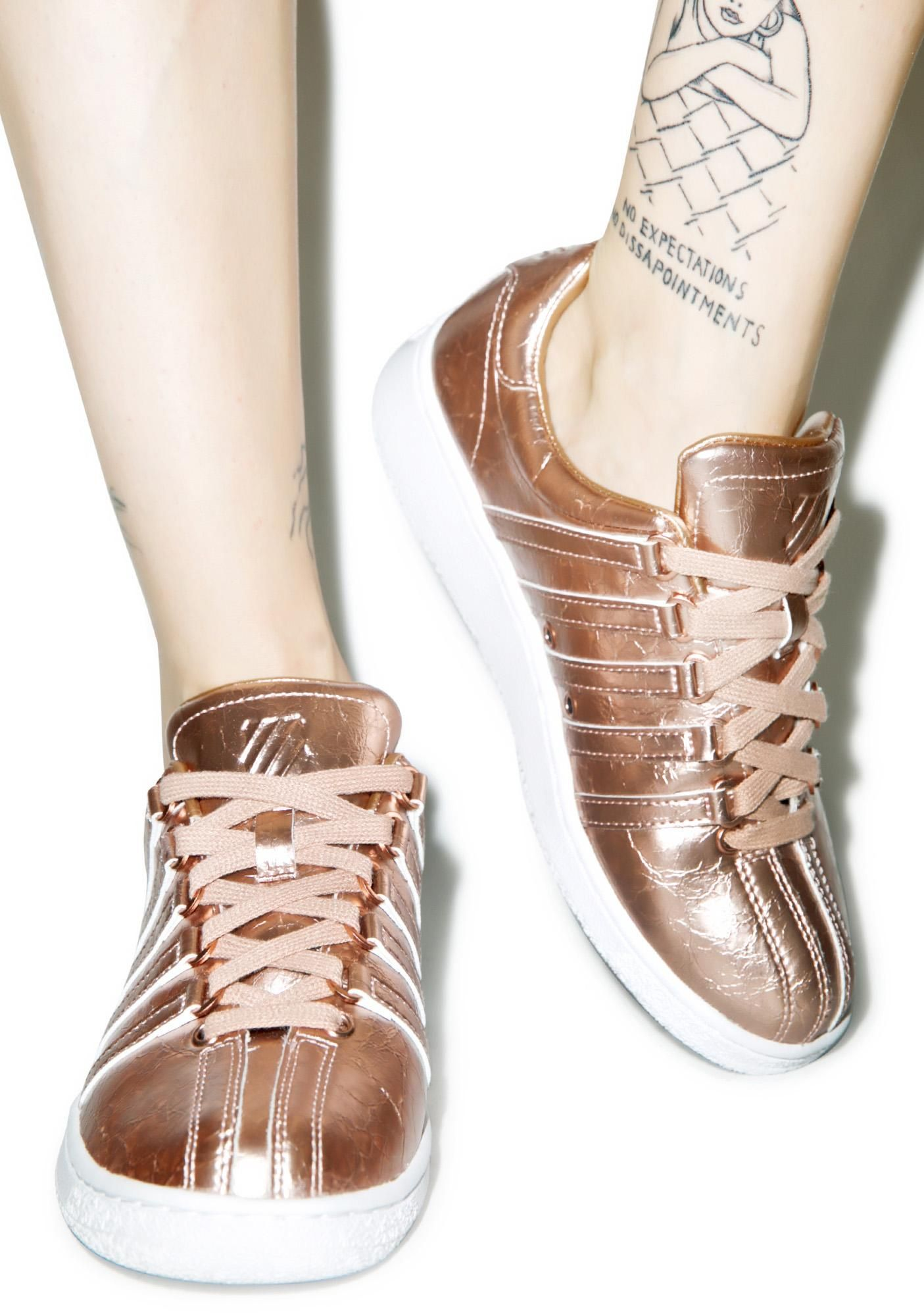 db39674ca284 Hipster Shoes · Rose Gold Marble · Metallic Sneakers · K-SWISS Classic VN  Aged Foil Sneaker cuz you need every inch of ya drippin