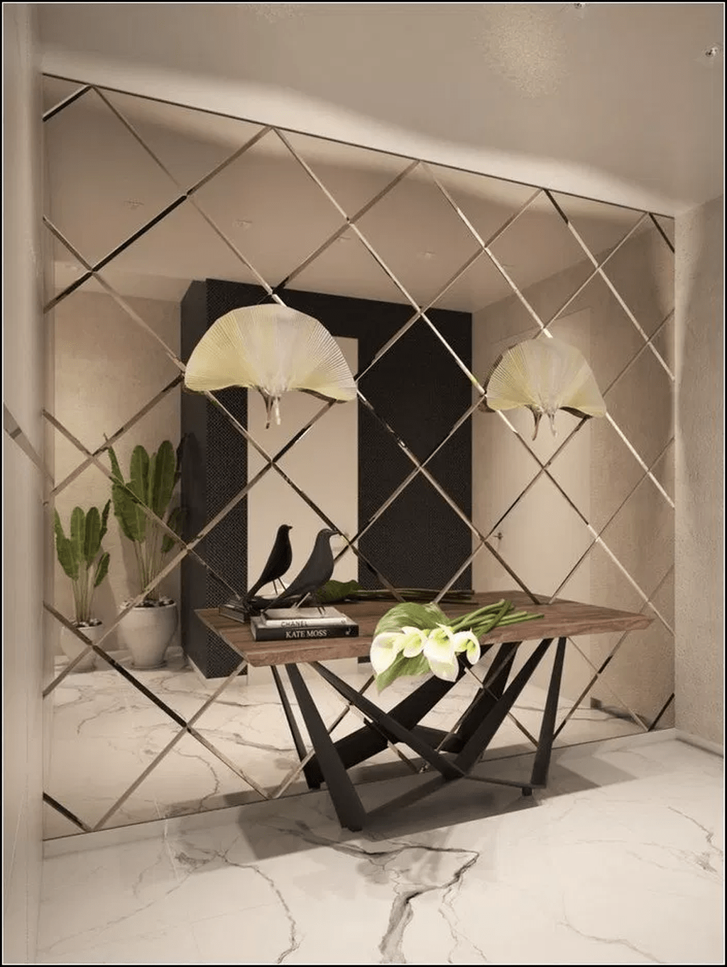 34 Popular Mirror Wall Decor Ideas Best For Living Room In 2020 Mirror Wall Living Room Interior Wall Design Living Room Mirrors