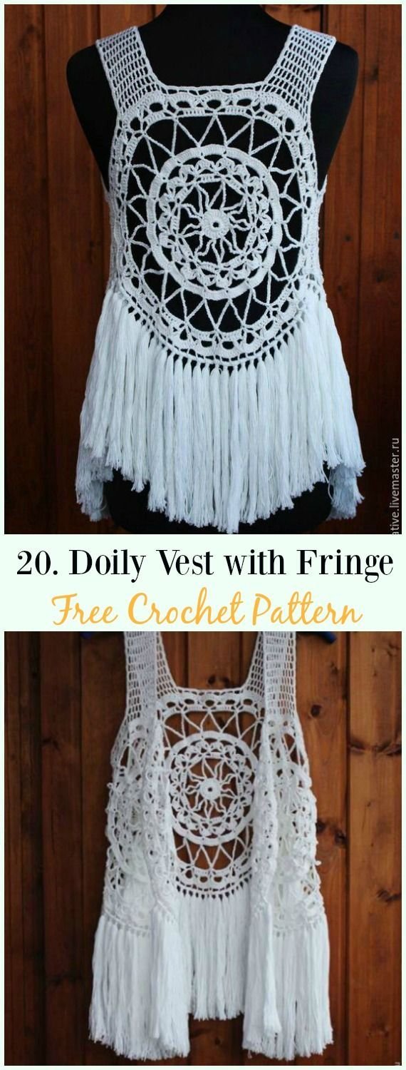 Crochet Women Vest Free Patterns [Spring Summer Sweater Outwear] #womenvest