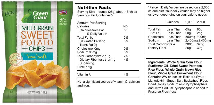 My New Snack Chips Snack Chips Nutrition Facts Snacks
