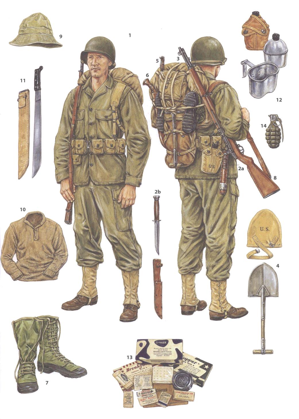 WWII US Infantryman | History | Pinterest | Military, Army ...