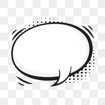 Comic Speech Bubbles On Halftone Transparent Background Transparent Clipart Black Blank Png And Vector With Transparent Background For Free Download Comic Bubble Text Bubble Free Coloring Pictures