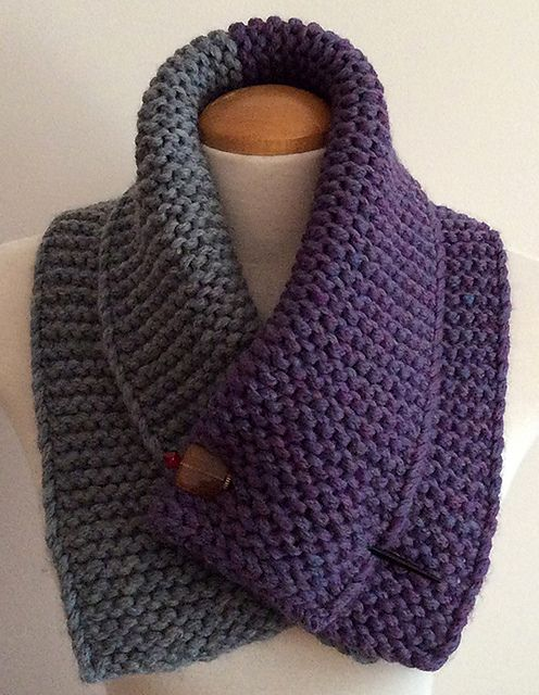 Ravelry: Two toned neck warmer pattern by Mouton Rouge | Knitting ...