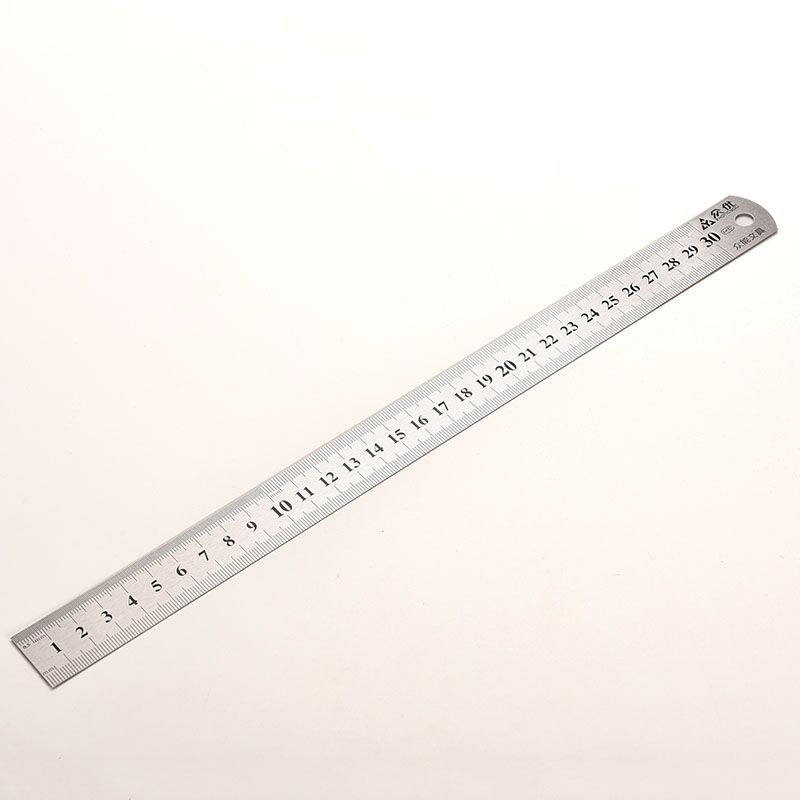 2016 Hot Sale Stainless Steel Metal Ruler Metric Rule Precision Double Sided Measuring Tool 30cm Wholesale Ruler Measurement Tools Education Supplies