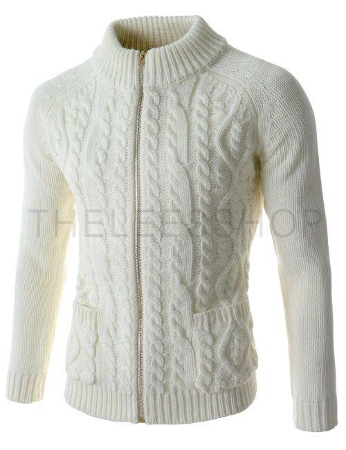 TNC03-WHITE) Knit Cardigan | Proyectos que debo intentar | Pinterest ...