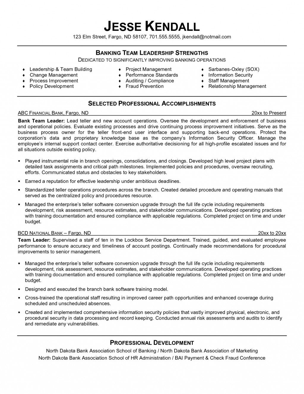 resume examples leadership skills