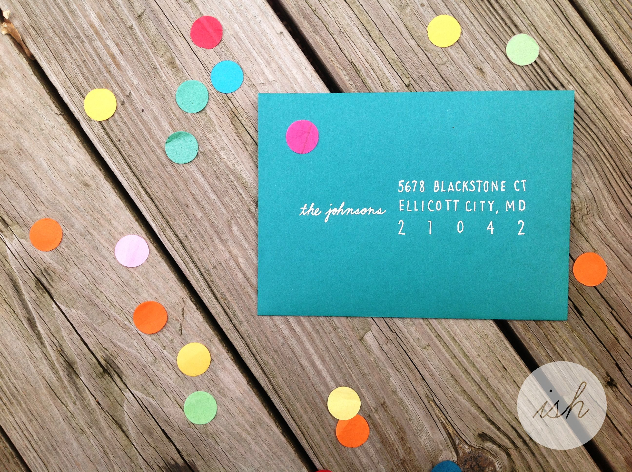 Tutorial for Cheaters Font diy addresses on envelopes that – How to Address a Birthday Card
