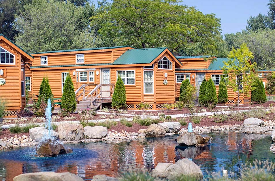 Deluxe Cabin Rentals At Cedar Point S Lighthouse Point Cedar Point Luxury Camping Cabin