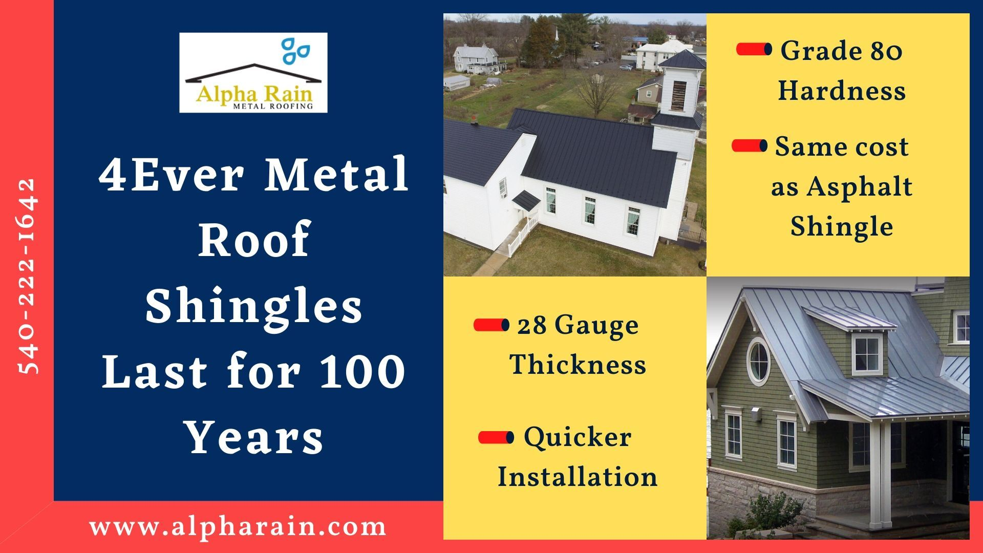 Permanent Metal Shingles Cost Same As Temporary Asphalt In 2020 Metal Shingle Roof Metal Shingles Shingling