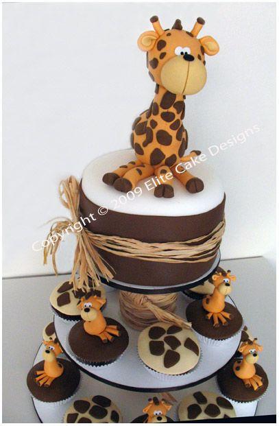 Giraffe Cupcakes JungleZoo Animal Cupcakes Kids Birthday Cupcakes