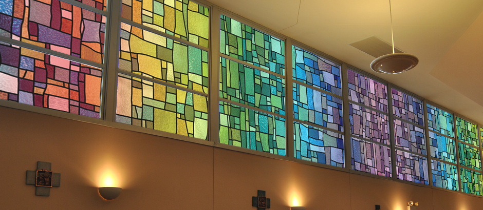 church window film: decorative stained glass window film