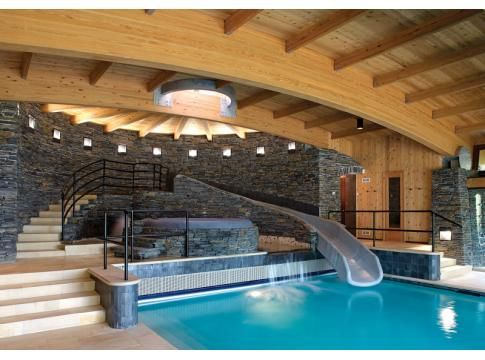 Mansion Indoor Pool With Slide Images
