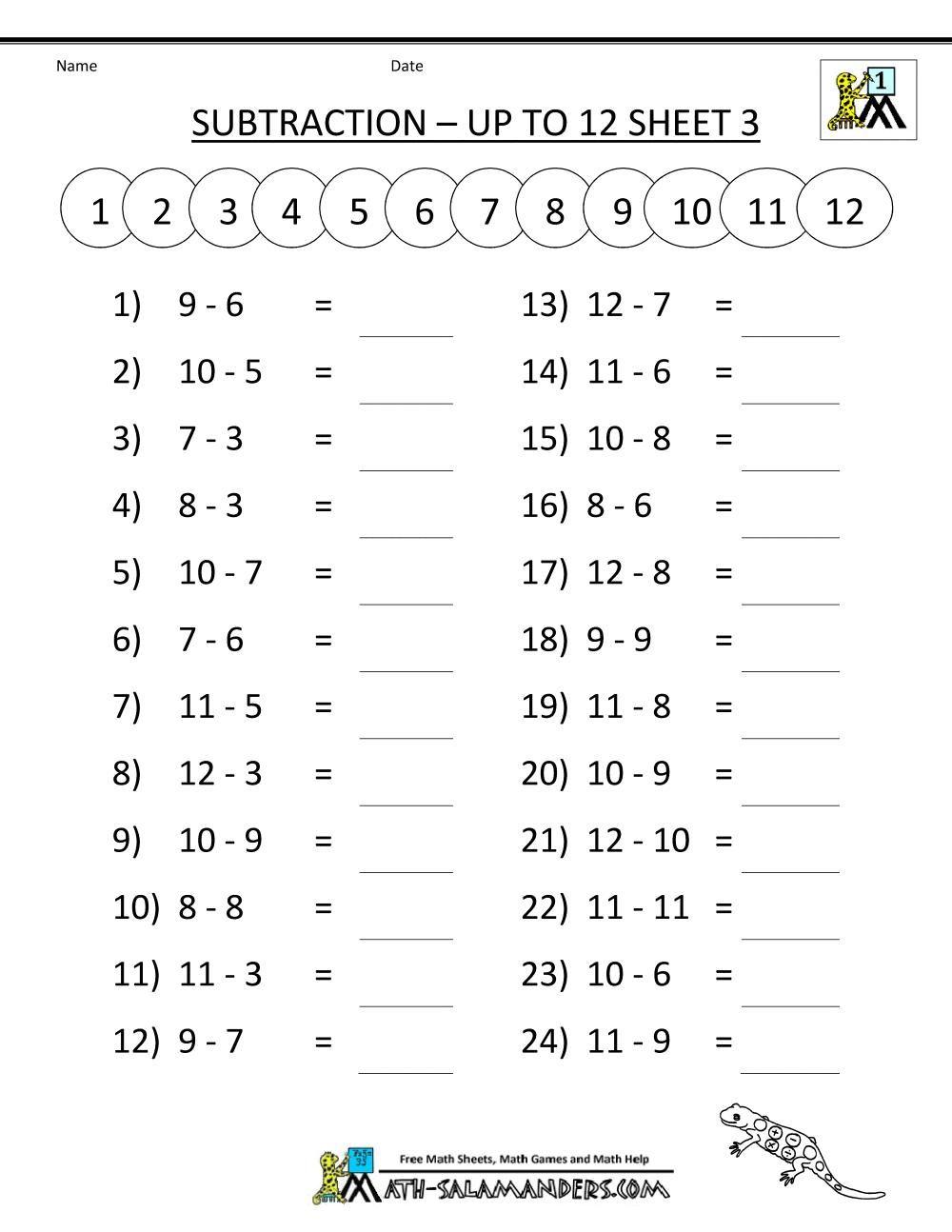 1st Grade Free Printable Math Worksheets Di 2020 Mental addition worksheets for grade 3