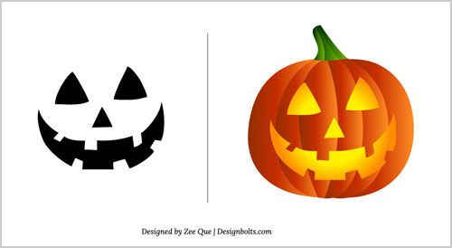 Free Halloween Pumpkin Carving Patterns 2012 15 Scary Stencils - pumpkin carving template