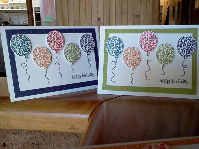 Floating Balloons by Sarah B - Cards and Paper Crafts at Splitcoaststampers