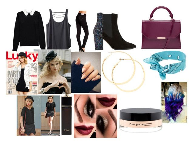 """""""Movies with Taylor"""" by larryandtarillforeverr14 ❤ liked on Polyvore featuring Essentiel, Kavu, True Religion, Dune, Ted Baker, MAC Cosmetics and Christian Dior"""