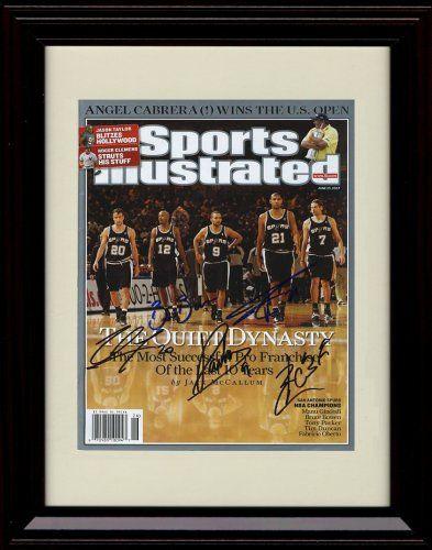 big sale cd8a2 cbb80 Framed San Antonio Spurs Sports Illustrated Autograph Print ...
