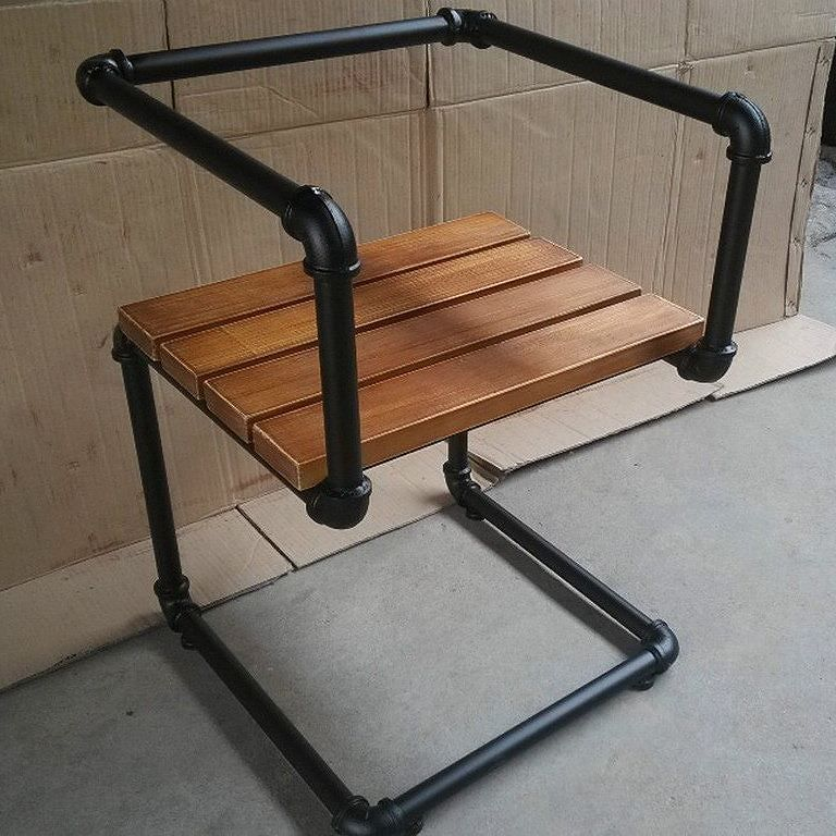 """Learn how to build this pipe chair with Kee Klamp fittings and pipe in """"5 Industrial Style Pipe Chairs & How to Build Them"""" http://goo.gl/LNeC2H"""
