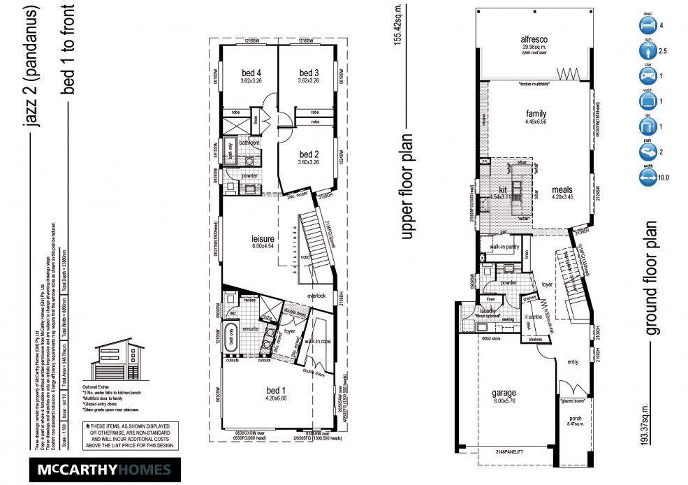 Jazz McCarthy Homes floor plans Pinterest Jazz and House - plan maison etage m