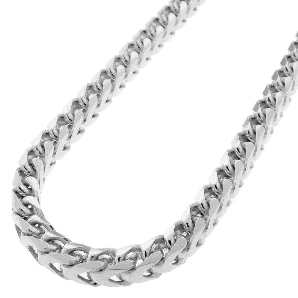 "Silver Italian Rhodium Box-015 Chain Necklaces Sterling Silver 925 Jewelry 18/"""