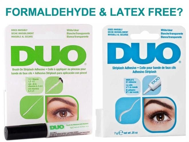 ed7523469e6 DUO LASH GLUE – FORMALDEHYDE AND LATEX FREE? Want to seek out a false eyelash  glue option that is free from carcinogenic formaldehyde and the allergenic  ...